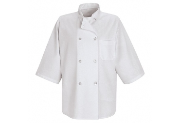 White Chef Coat 1/2 Sleeve