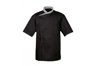 Black Short Sleeves Chef Coat