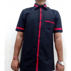 Black colour housekeeping uniform 003