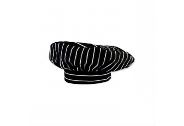 Black Chef Hat With White Stripped 005