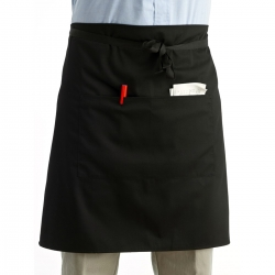 Black Knee Chef Apron 004