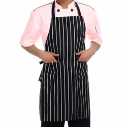 Black And White Stripe Apron 008