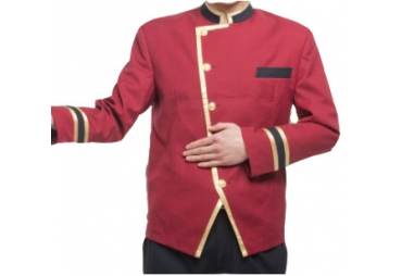 Red Bell Boy Uniform  004