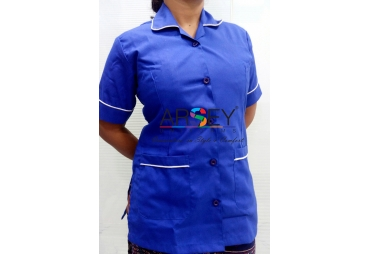 Blue with with piping Nurse Uniform 002