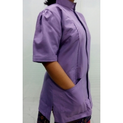 Puff Sleeves Nurse Uniform 004