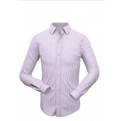 Purple Small Checkered Shirt 002