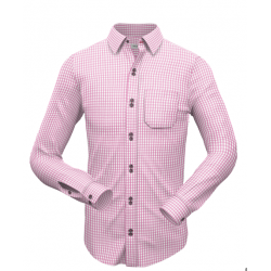 Pink Small Checkered Formal Shirt 009
