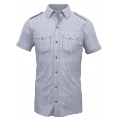 Blue Stripped Shirt 012