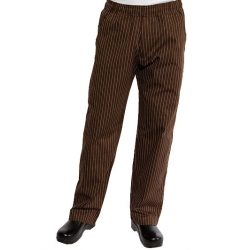 Brown with white stripped chef trouser 008