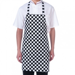 Black & White Checkered Neck Apron 009