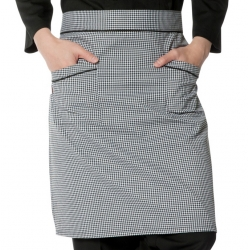 Checkered Waist  Chef Apron 013