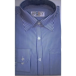 Blue With White Stripped Formal Shirt 13